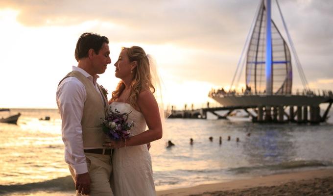 Intimate Beach Wedding at la Palapa Restaurant in PuertoVallarta