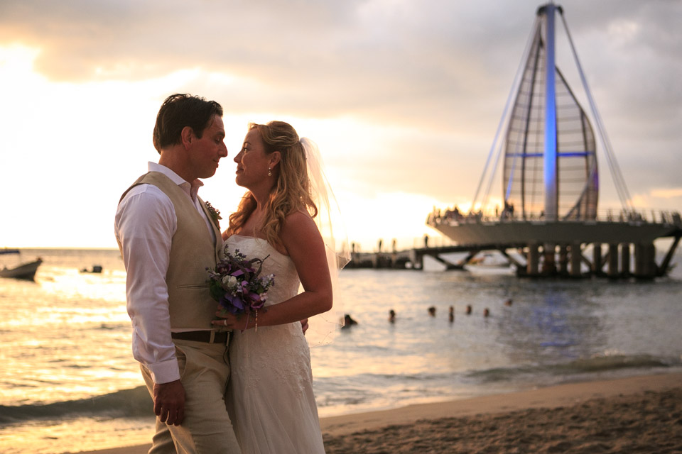 Intimate Beach Wedding at la Palapa Restaurant in Puerto Vallarta
