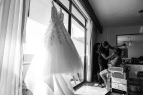 fotos bodas de playa Costa Sur resort Puerto Vallarta Mexico beach wedding dress