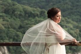 Intimate Puerto Vallarta beach wedding photography LiMe fotografia at Le Kliff restaurant Bride