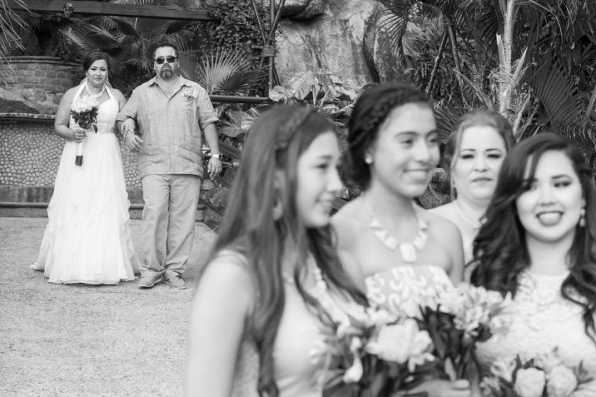 Intimate Puerto Vallarta beach wedding photography LiMe fotografia at Le Kliff restaurant Bride and bridesmaids