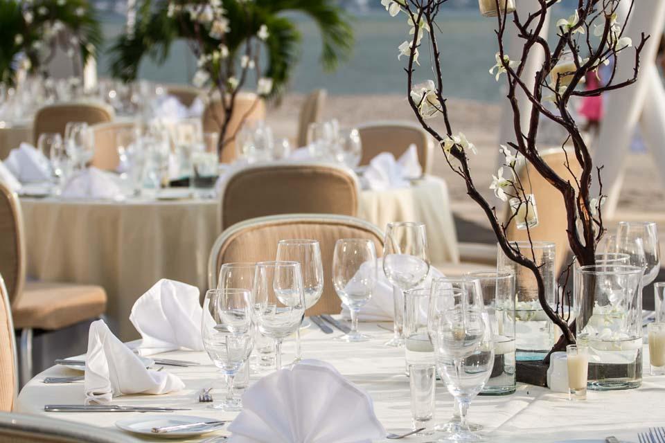 Puerto Vallarta Beach Wedding Pictures at Hilton Resort Reception Set up Lime Fotografia
