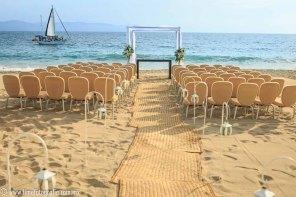 Fotos de boda en playa Hilton Puerto Vallarta All Inclusive Resort