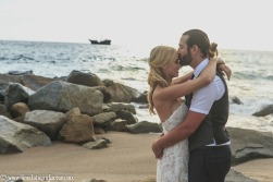 Hilton Puerto Vallarta Beach Wedding Pictures romantic portraits