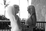 Beach wedding photographer Nuevo Vallarta Mexico Villa del Palmar Resort Bride