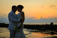 fotos de boda en playa Palladium Resort Punta de Mita Nayarit sunset