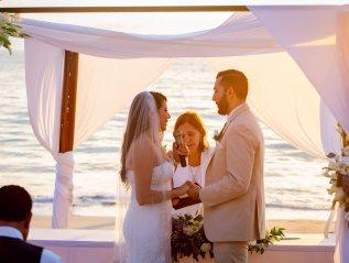 T + M romantic beach wedding in Nuevo Vallarta (videohighlight).